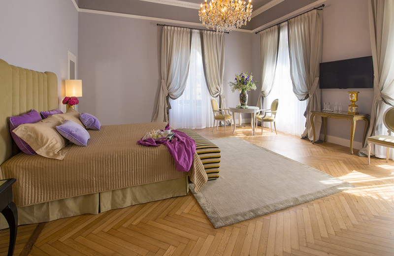 Guest room at Grand Hotel & La Pace.