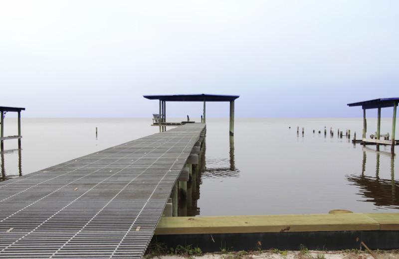 Rental dock at Reed Real Estate Vacation Rentals.