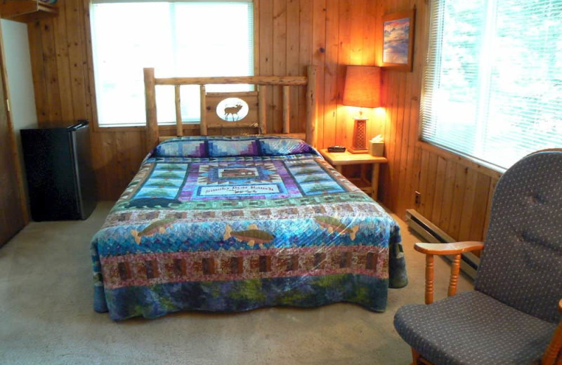 Guest room at Smoky Bear Ranch.