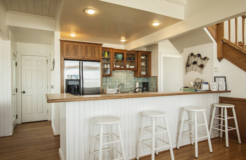 Rental kitchen a tOak Island Accomodations.