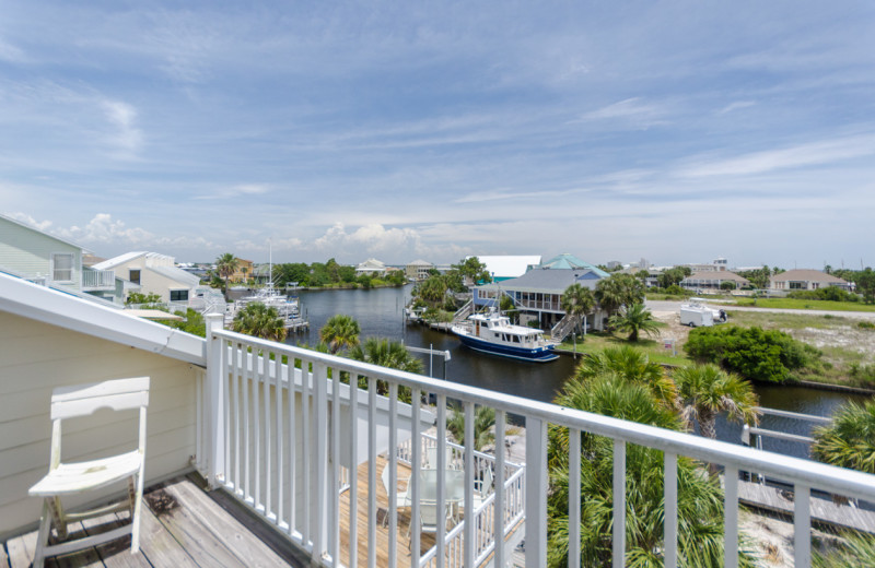 Rental balcony at Vacation Homes Perdido Key.