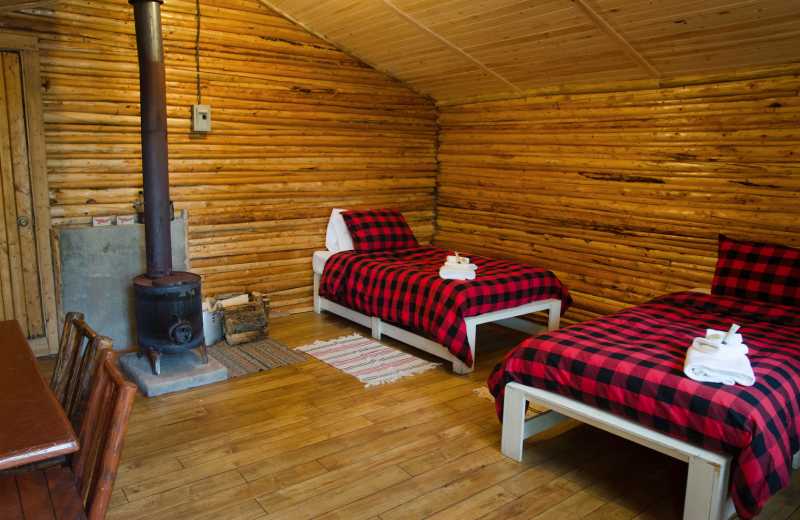 Cabin interior at Arctic Lodges.