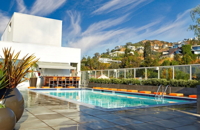 Outdoor pool at Andaz West Hollywood - A Hyatt Hotel.