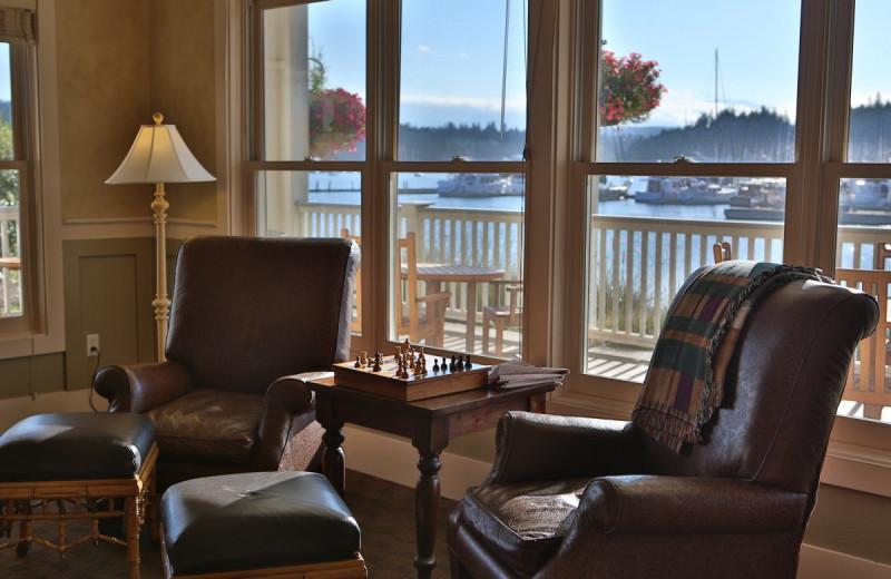 Interior room at The Resort at Port Ludlow.