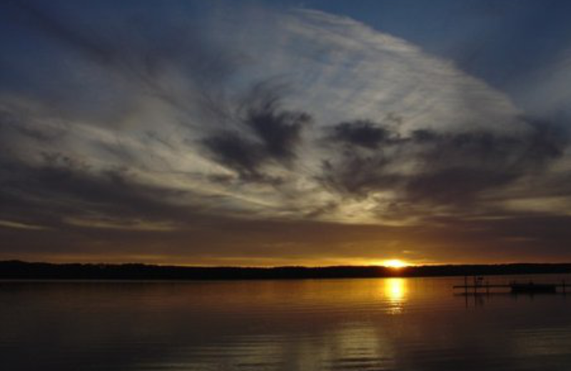 Sunset at East Shorewood Cottages