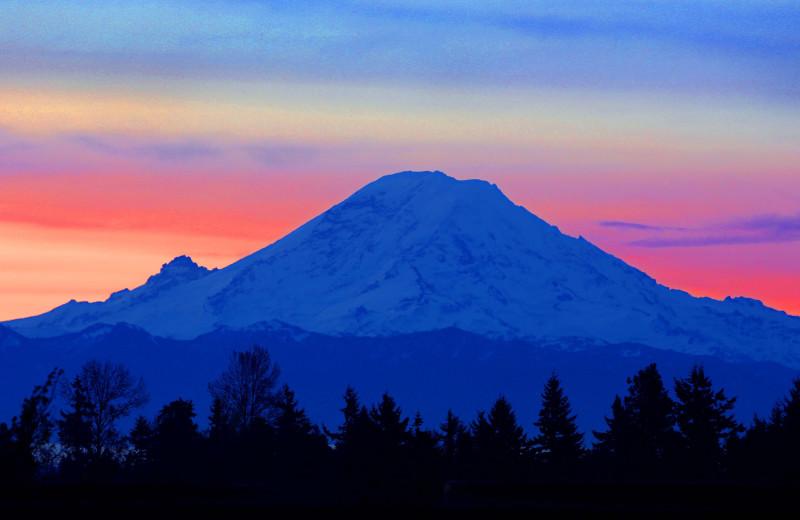 Sunset at Packwood Lodge.