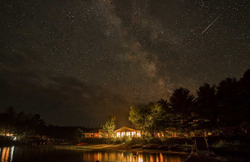 Night sky at The Lodge at Pine Cove.