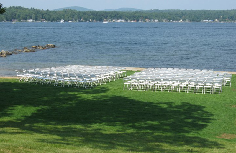 Wedding ceremony at The Margate on Winnipesaukee.