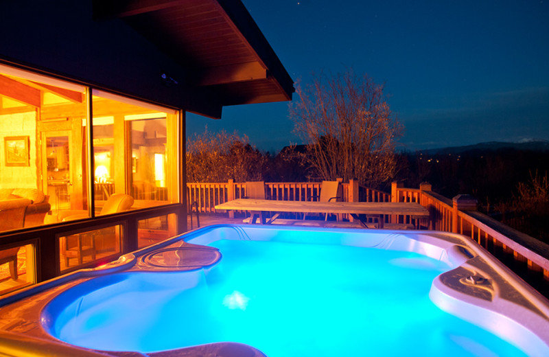 Vacation rental pool at Cabin and Company.