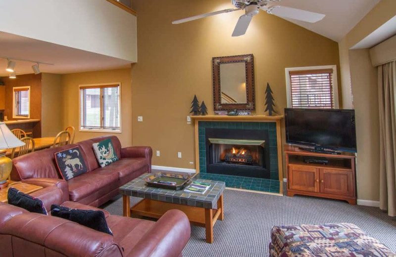 Guest living room at Crystal Mountain Resort and Spa.