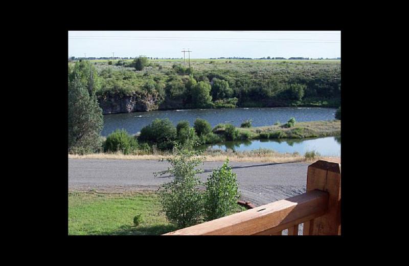 Deck view at Fish Hawk Flats.