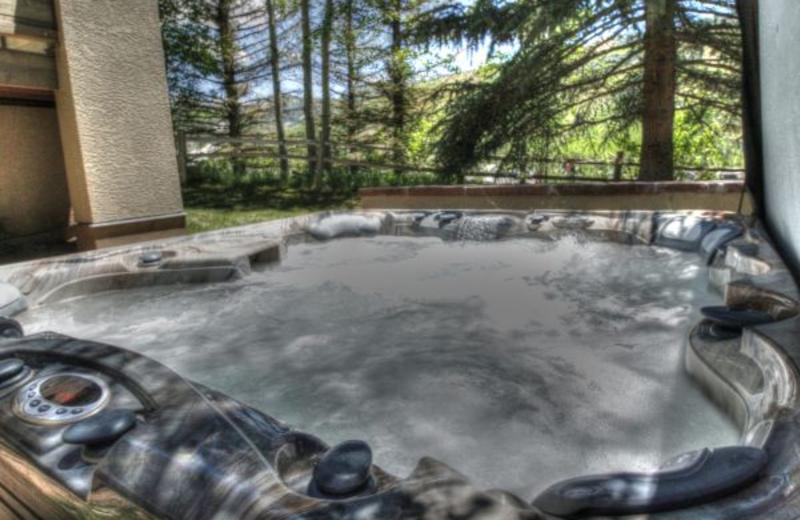 Vacation rental hot tub at SkyRun Vacation Rentals - Vail, Colorado.
