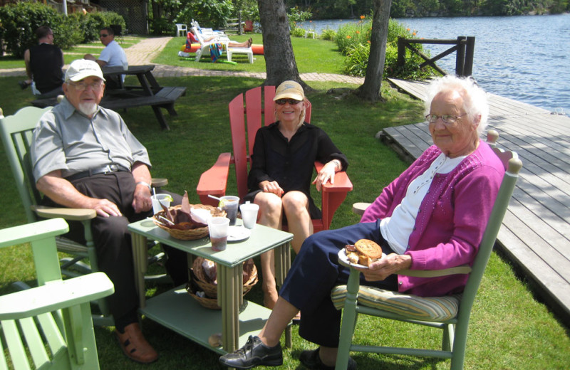 Relax by the lake at Severn Lodge.