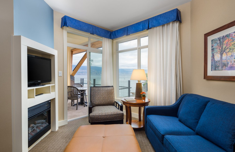 Guest room at Summerland Waterfront Resort.