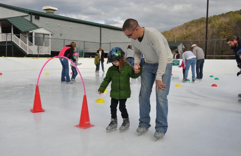ice skating at Massanutten Resort.
