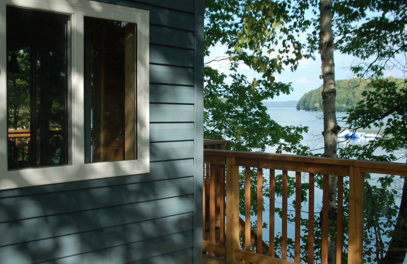 Cottage exterior at Muskoka Shores Cottages.