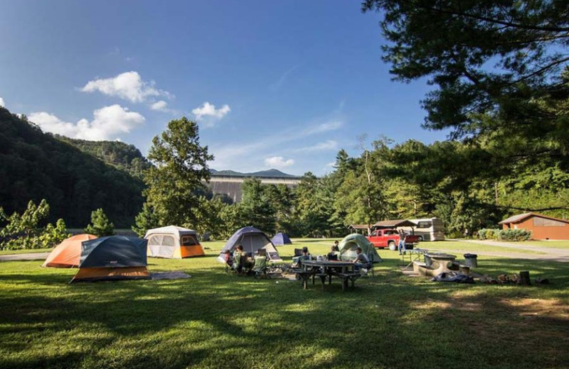 Camping at Fontana Village Resort.
