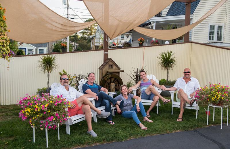 Group at Footbridge Beach Motel.