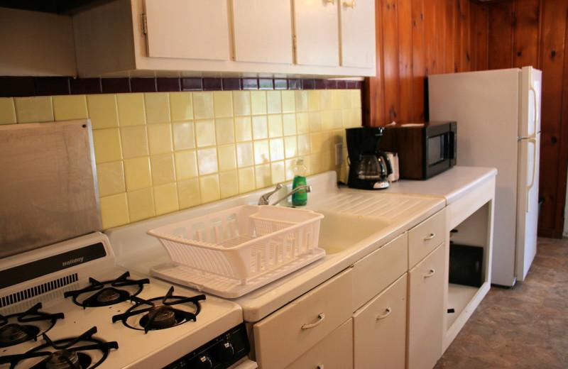 Guest kitchen at Lynnhurst Family Resort.