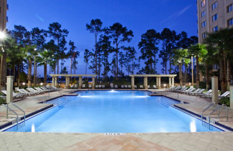 Outdoor pool at Lake Eve Resort.
