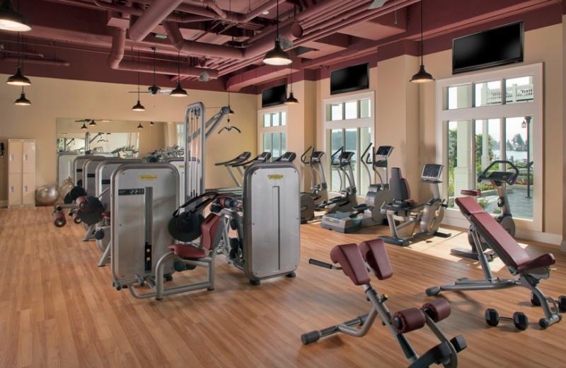 Fitness room at The Prestige Oceanfront Resort.