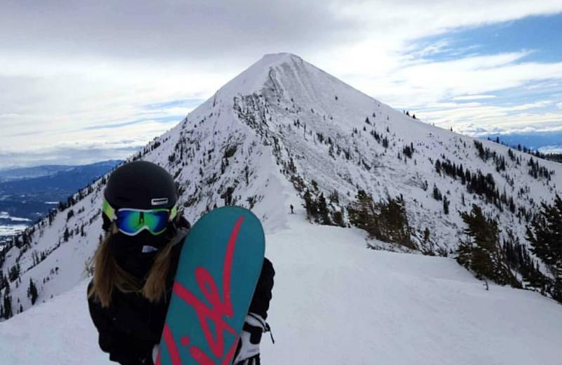 Snowboarding at Hardscrabble Ranch.