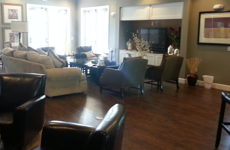 Clubhouse interior at Elite Vacation Homes.