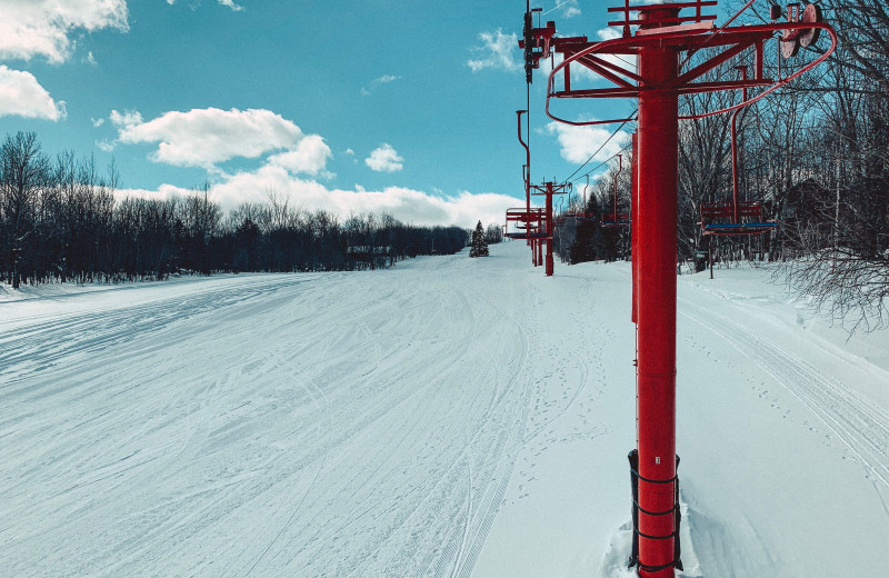 Ski lift at Big Powderhorn Mountain.