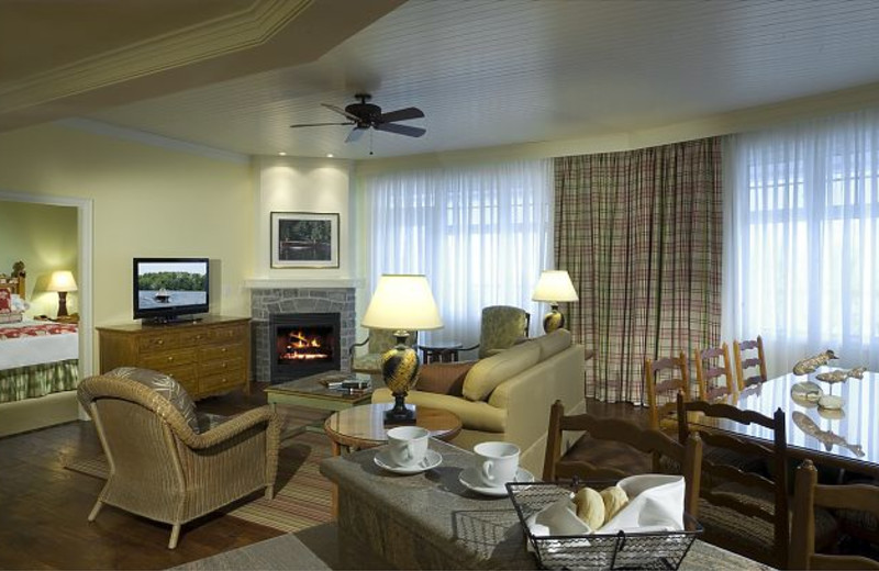 Suite interior at JW Marriott The Rosseau Muskoka Resort & Spa.