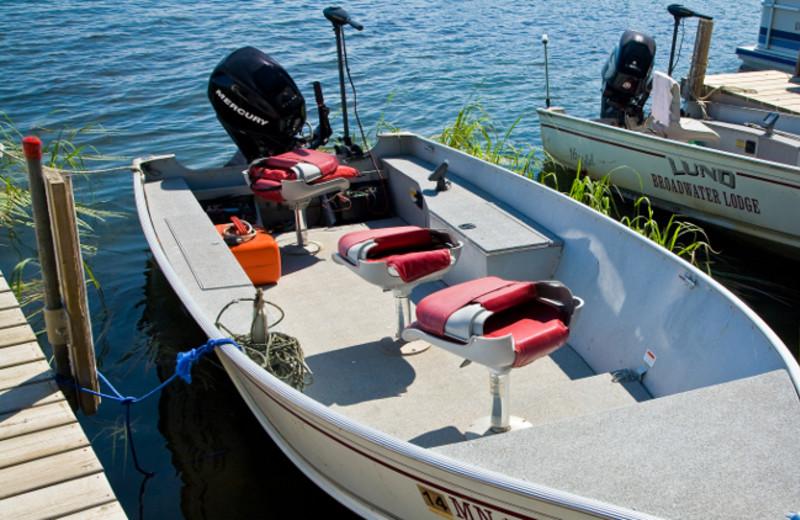 Boat rental at Broadwater Lodge.
