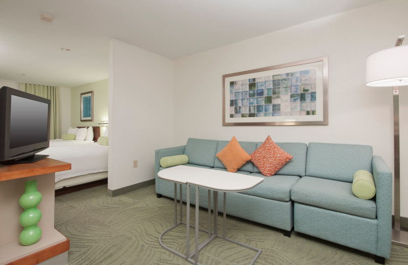 Guest room at SpringHill Suites Phoenix Chandler/Fashion Center.