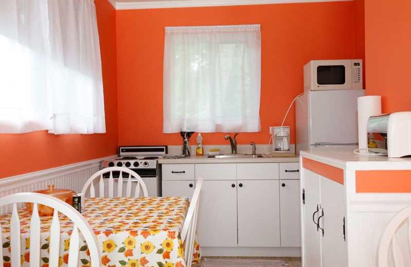 Guest kitchen at Popp's Motel-Bayside.
