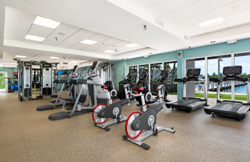 Fitness room at South Seas Island Resort.