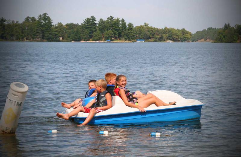 Paddle boat at Bay View Lodge.