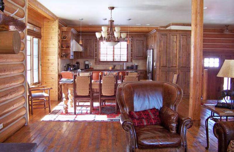 Cabin interior at Teton Springs Lodge.