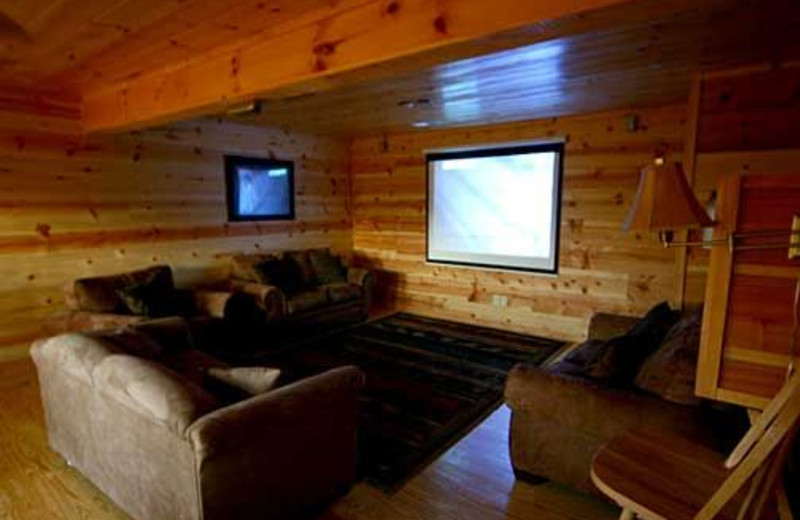 Theater Room at Baskins Creek Cabin Rentals