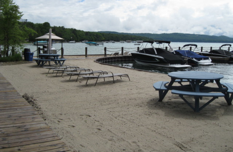 The beach at Glen Craft Marina and Resort.