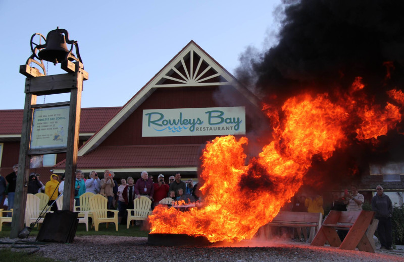 Boil out at Rowleys Bay Resort.