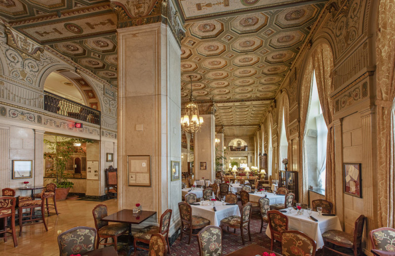 Dining at The Brown Hotel.