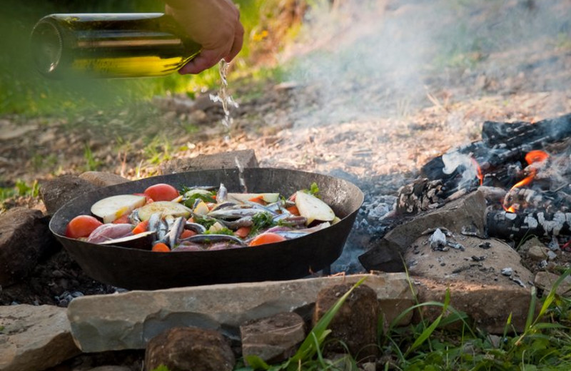 Cooking Over Fire at Fireside Resort