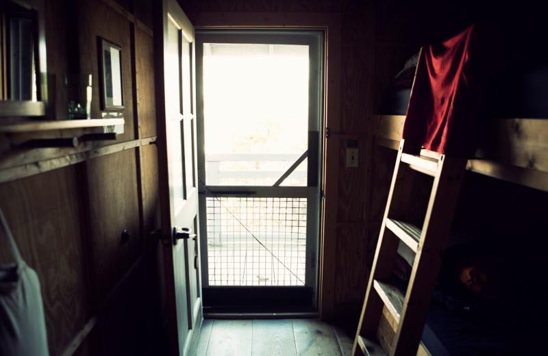 Guest room at Hike Inn at Amicalola Falls.