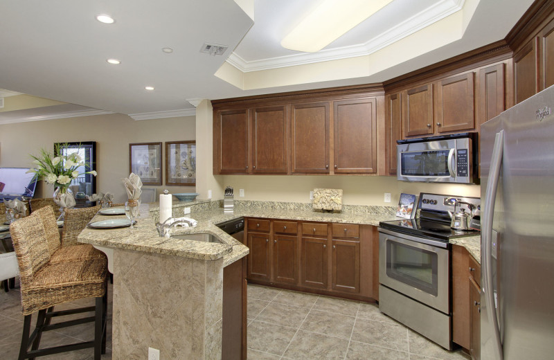 Rental kitchen at LuxuryGulfRentals.com