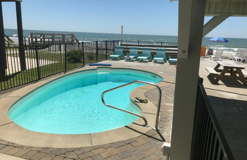 Pool at Cherry Grove Beach Houses.