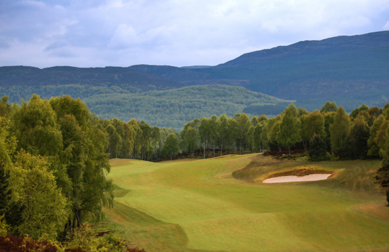 Golf course at Aviemore Highland Hotel.