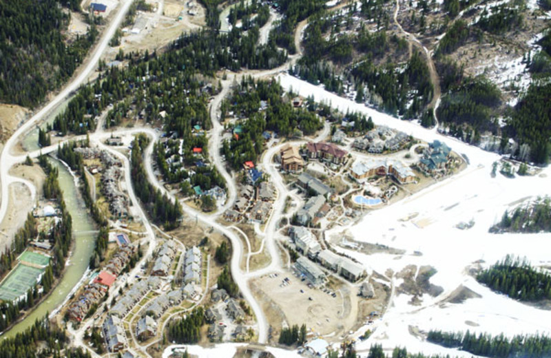 Aerial View of the Panorama Vacation Retreat at Horsethief Lodge
