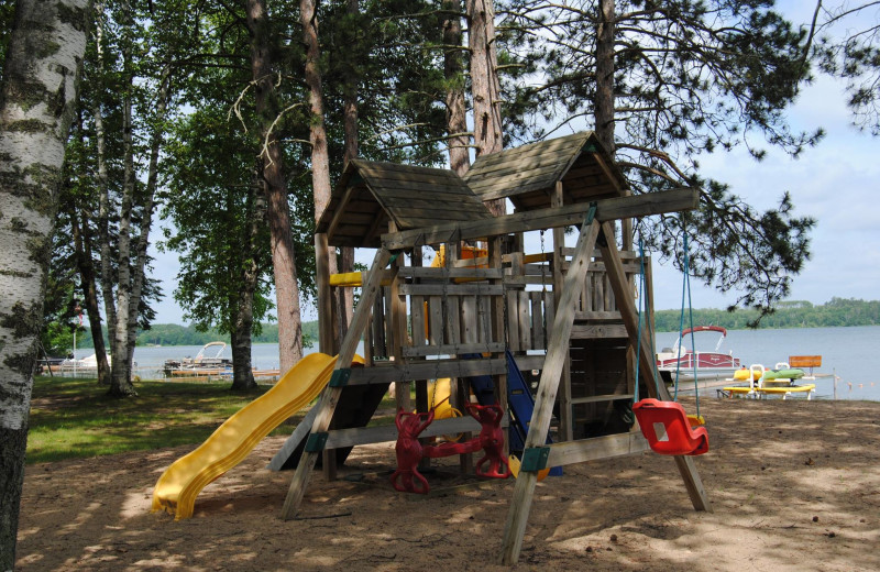 Playground at Sandy Pines Resort.
