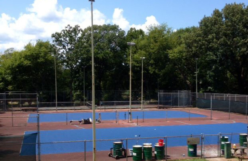 Tennis court at Red Apple Inn and Country Club.