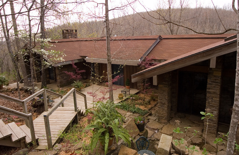 Exterior view of Azalea Falls Lodge.