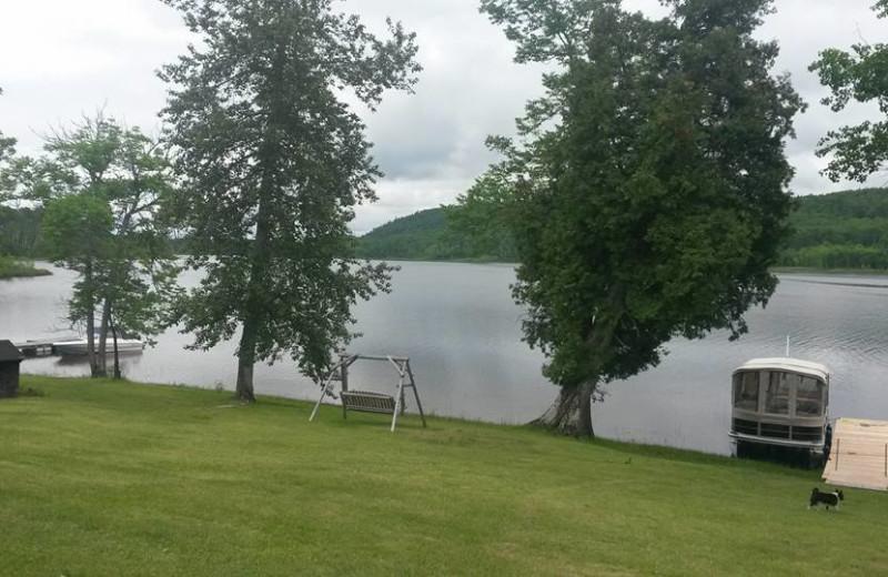 Lake view at Elk Lake Wilderness Resort.
