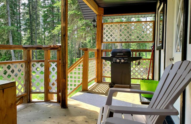 Cottage deck at Expanse Cottages.